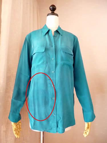 EQUIPMENT エキプモン シルクシャツの洗濯