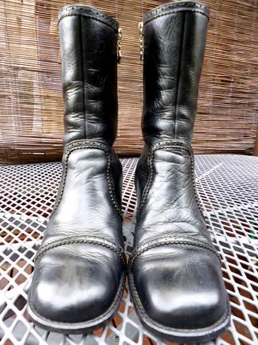 革ブーツの丸洗い