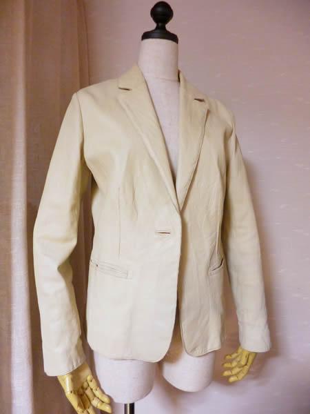 白いレザージャケットの洗濯